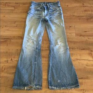Vintage LEVI Orange tag Bell Bottom Jeans 28x31
